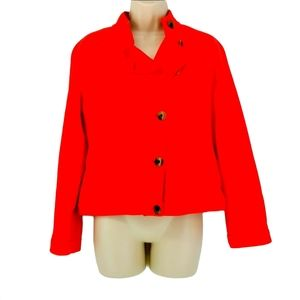 Old Navy Coral Button Up Pea Coat Jacket
